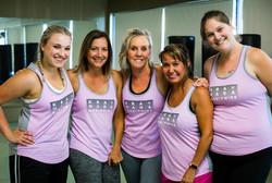 get fit challenge pink tops