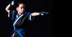 martial arts pose kids class