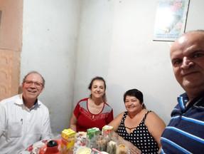 COM A IRMÃ VALÉRIA MEMBRO DA IMW EM MINERLANDIA EM VOlTA REDONDA EM 14/02/2020