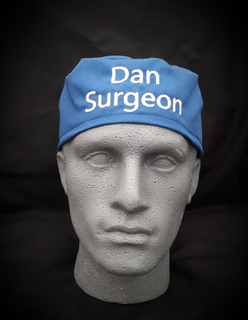 924968b8 Fitted tie-back personalised scrub caps.One size fits all.18 colours