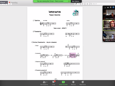 Improvisation - Virtual Clinic with University of Nebraska Jazz (2/3)