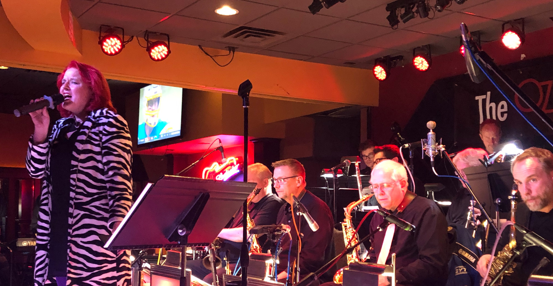 Sitting in with the Ozone Big Band