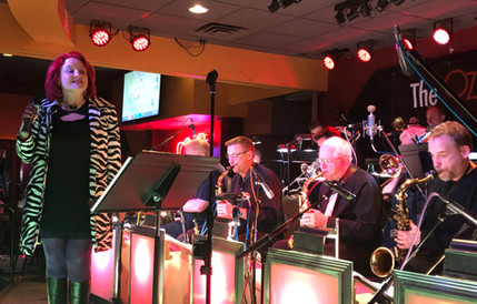 Sitting in w the Ozone Big Band