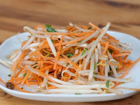 Salade de pousses de soja frais