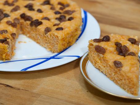 Gâteau à la citrouille et raisins secs