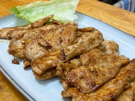 Blancs de poulet poêlés à la chinoise