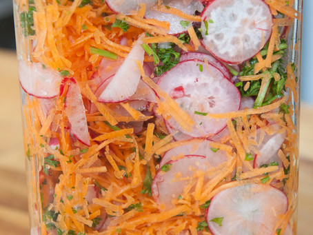 Salade de radis marinées