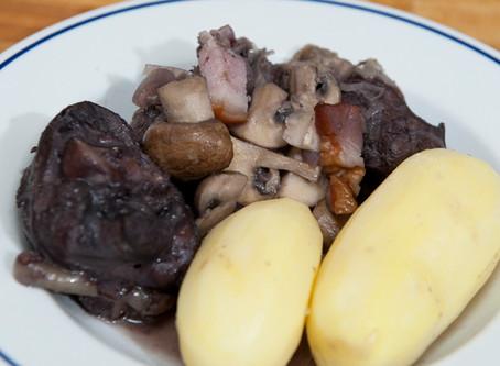 Coq au vin - recette 1930