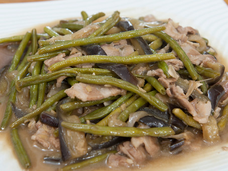 Aubergines haricots verts
