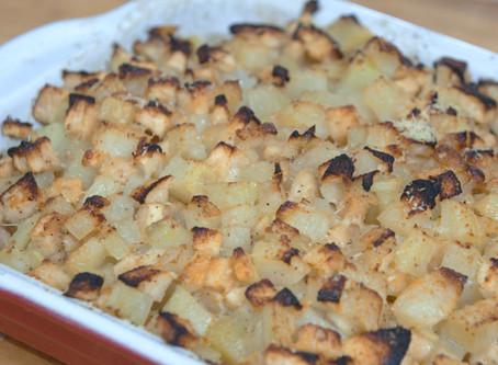 Gratin de pommes de terre et pommes fruit