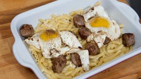"""Macaronis saucisses et œufs """"recette 1930"""""""