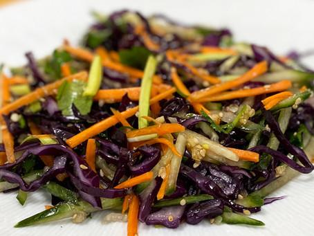 Salade de chou rouge à la chinoise