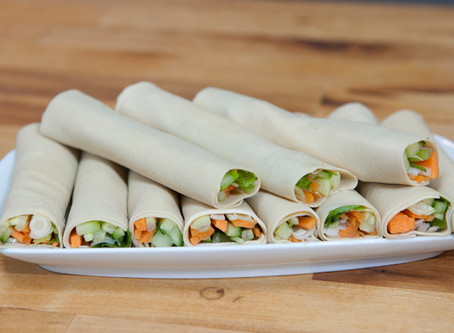 Roulés de feuilles de tofu