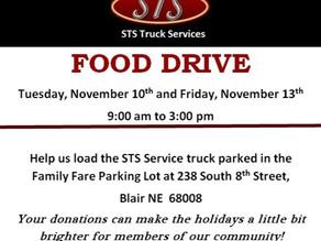 STS Food Drive: Nov 10