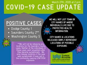 Three Rivers Covid-19 Case Update