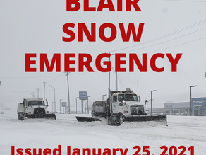 Blair Snow Emergency: Jan 25