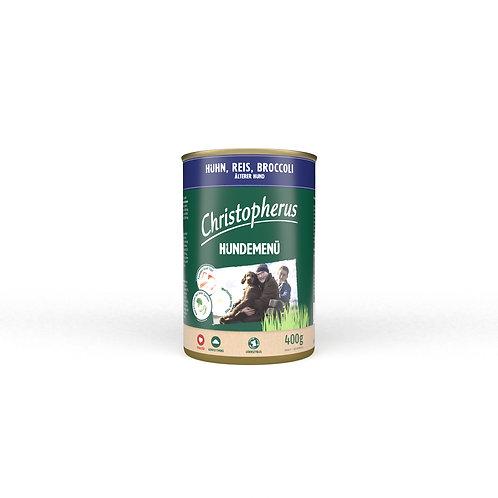 Nassfutter - Christopherus - Fleisch-Menü - Senior mit Huhn, Reis und Brokkoli