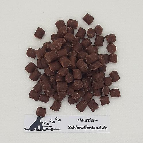 Weiche Happen Lachs & Geflügel, Hunde-Kauartikel, Hunde-Kau-Snack, Leckerchen, Trockenkauartikel, Belohnungshappen