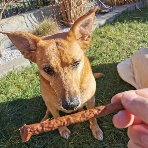 Hirsch-Sticks, Hunde-Kauartikel, Hunde-Kau-Snack, Leckerchen, Trockenkauartikel, Belohnungshappen