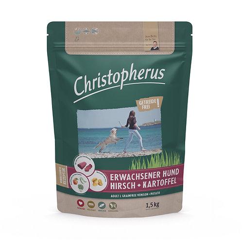 Trockenfutter - Christopherus-Erwachsener Hund-Getreidefrei - Hirsch & Kartoffel