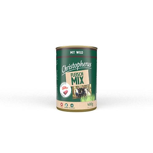 Christopherus - Nassfutter - Fleischmix - Wild    Hersteller-Produktbeschreibung:    Christopherus – Fleischmix mit Wild