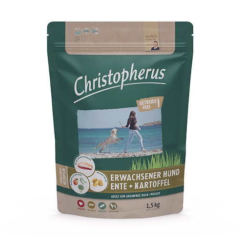 Trockenfutter - Christopherus - Älterer Hund - Getreidefrei - Ente & Kartoffel