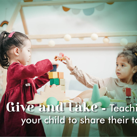 Give and take - teaching your child to share their toys