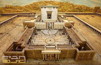 תרשים מפורט של בית המקדש