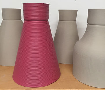 Lampshades extruded by Binary SLC using CLP flake