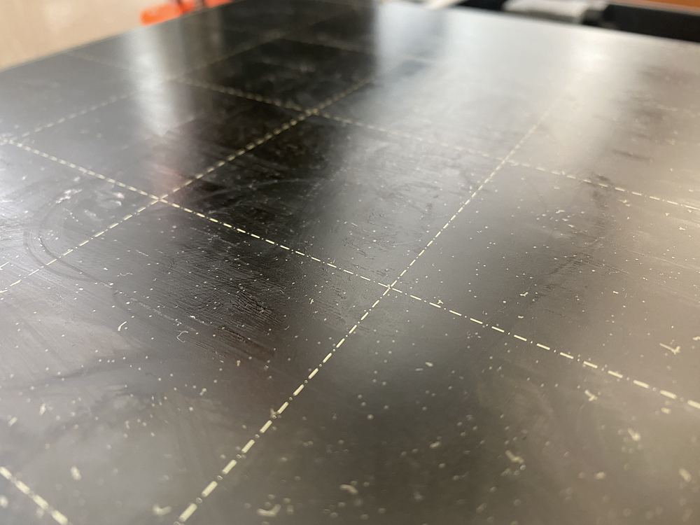 3D printer surface