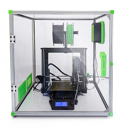 Filter attached to a 3D printer enclosure