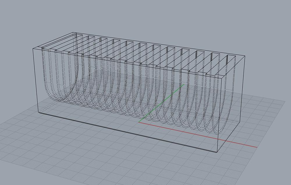 Rhino 3D model of final screen pack holder model