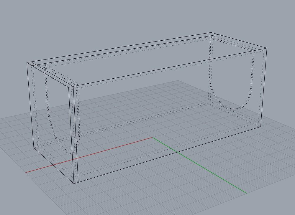 Rhino 3D model of screen pack holder