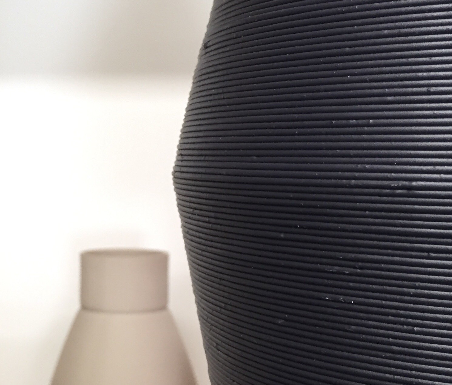 Close up of black U-HIPS lampshade