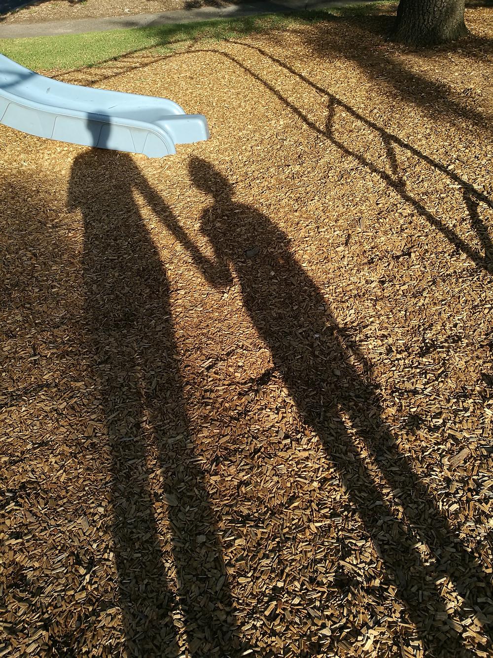 Sombras de una pareja