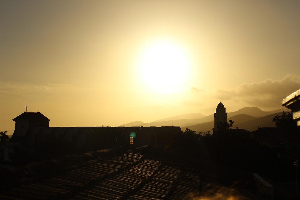 Sun setting in Trinidad, Cuba