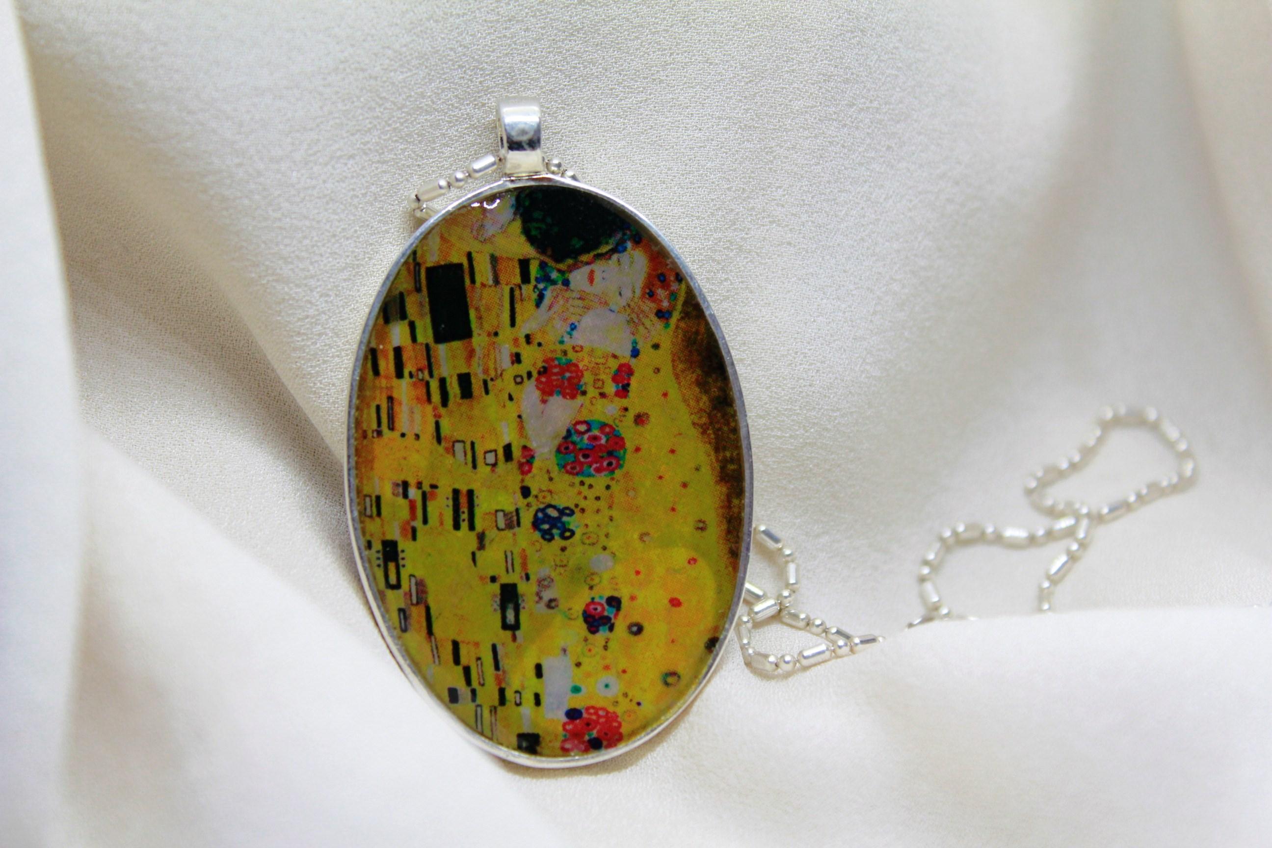 Colgante Klimt sobre cenizas