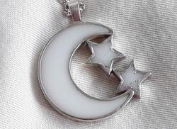 Luna y 2 estrellas con purpurina