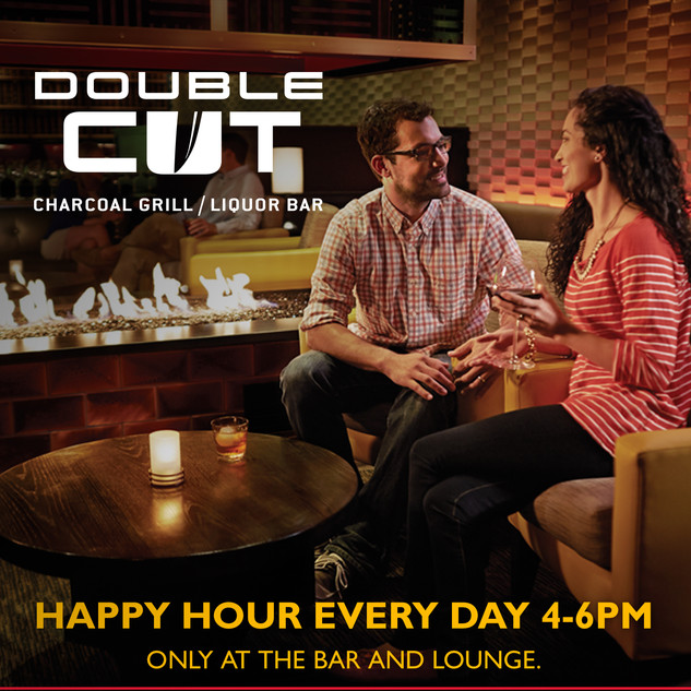 Double Cut Happy Hour Promotion Poster