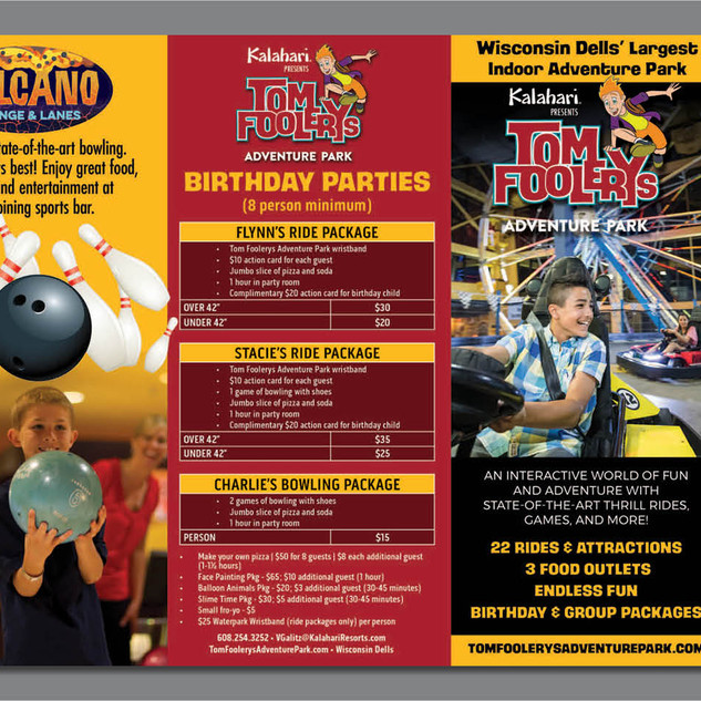 Tom Foolery Tri Fold Brochure