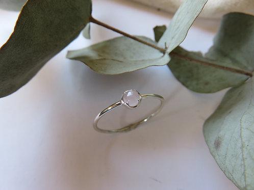 Rose Quartz Ornate Setting Ring