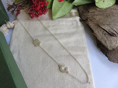 Botanical Adorn Mini Initial Necklace