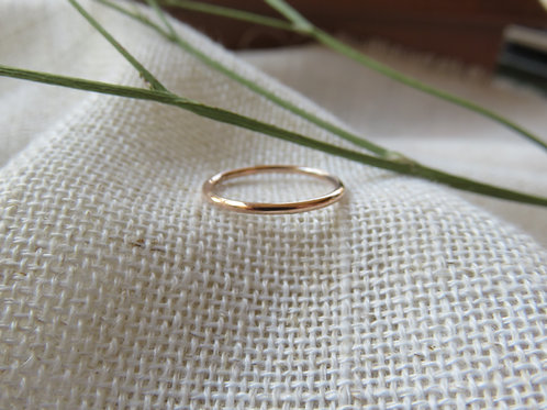 Solid Mini Gold or Silver Band