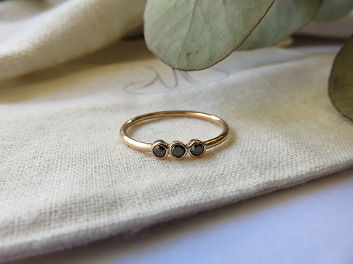 Trio Diamond and Gold Ring
