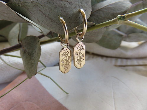 Botanical Adorn Hoop Earrings