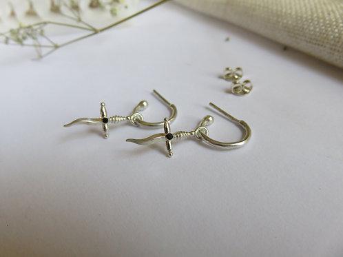 Keris Dagger Hoop Earrings