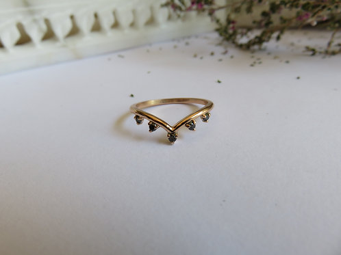 Bestowal Gold Ring with Diamonds