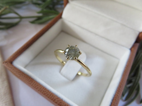 Cloudy 0.72ct Diamond Solitaire 18ct Gold Ring