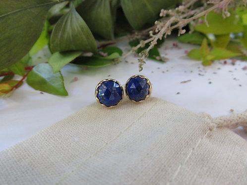Lapis Lazuli 9ct Gold Stud Earrings
