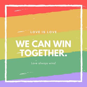 Rainbow Brush Strokes Love Instagram Pos